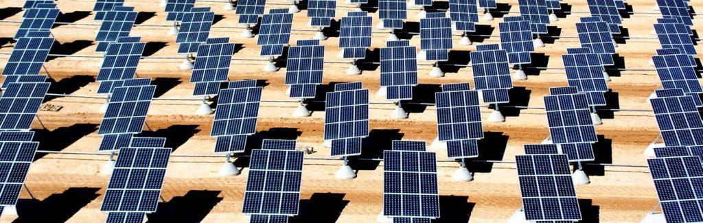 Solar tracker field