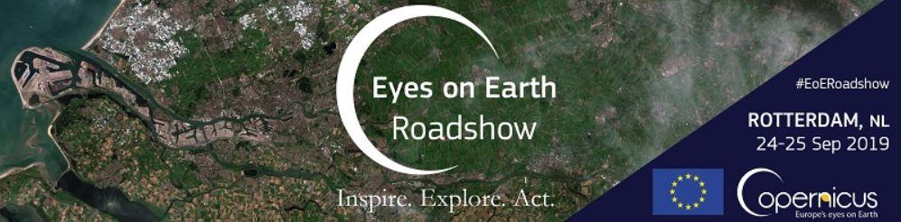 "Ontmoet ons tijdens de Copernicus ""Eyes on Earth"" roadshow!"